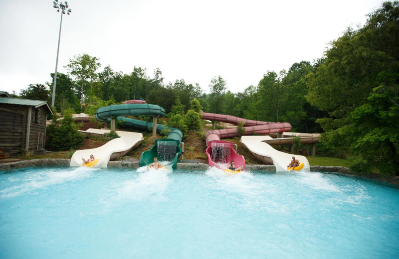 Dollywood's Splash Country water slides near Timbers Lodge.