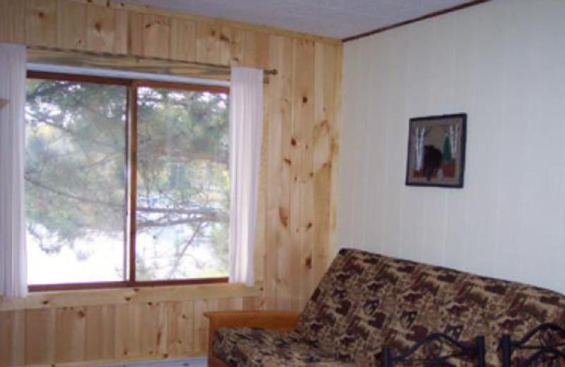 Cabin Interior at Lady Bug Lodge