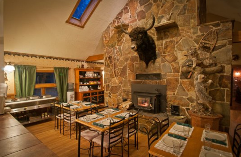 Interior view of Yaak River Lodge.