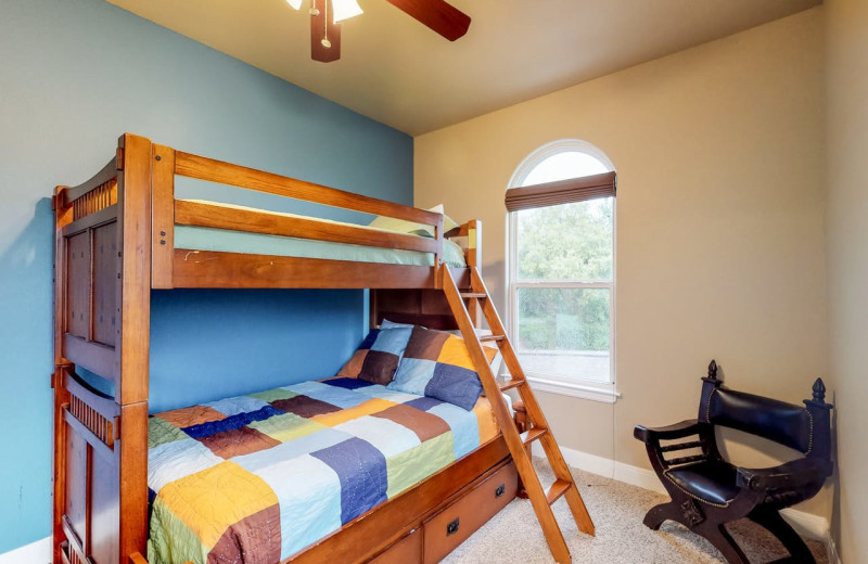 Rental bedroom at Still Waters Vacation Home.