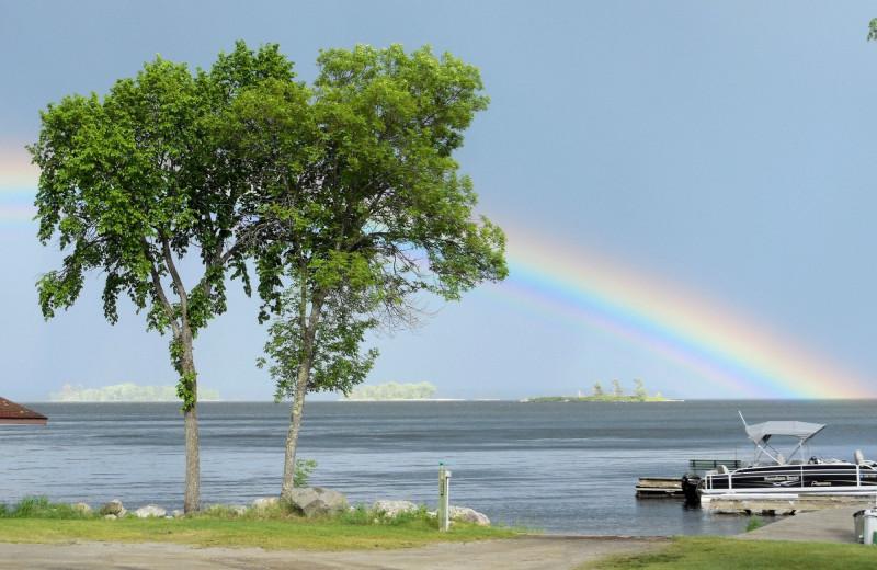 Lake view at Moosehorn Resort.