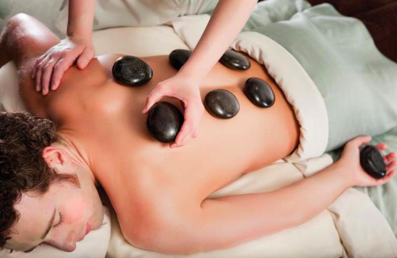 Hot stone massage at Crystal Mountain Resort and Spa.