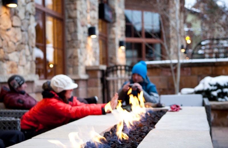 Warming by the fire at The Sebastian Vail.