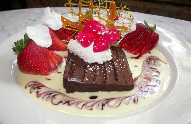 Dessert at Grand Central Hotel.