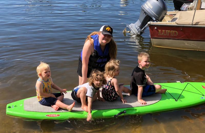 Paddle board at Pine Tree Cove Resort.