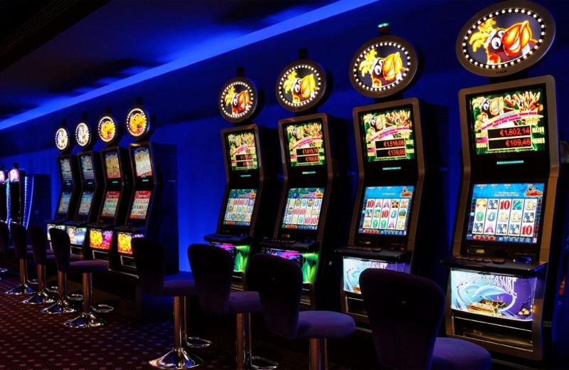 Casino slot machines at Hotel Algarve Casino.
