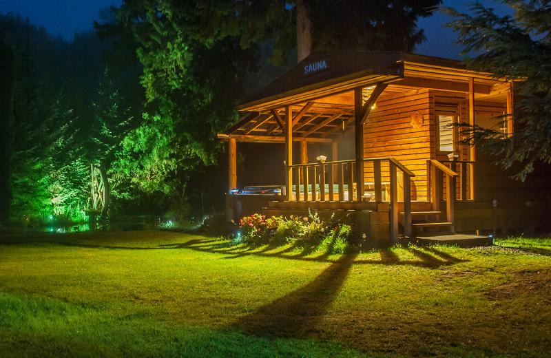 Sauna at Skeena Spey.