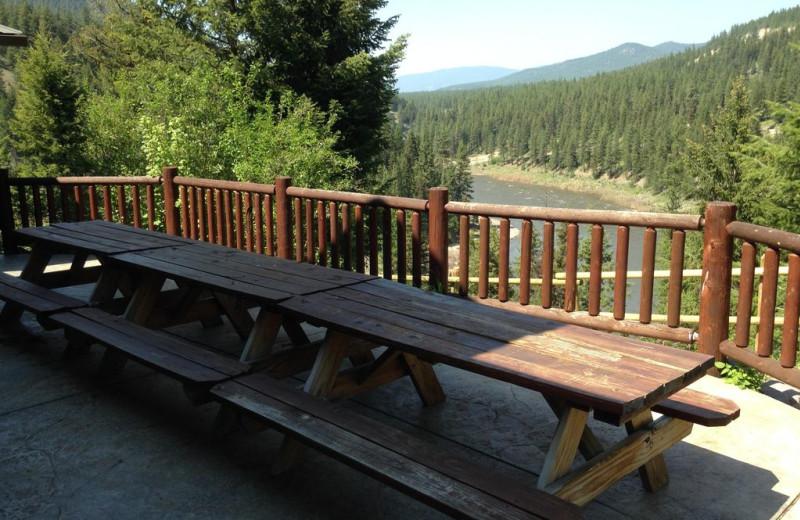 Deck at Montana River Lodge.