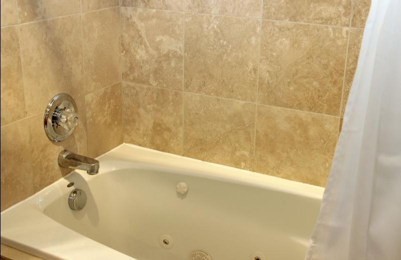 Condo bathtub at Bear Creek Vacation Condos.