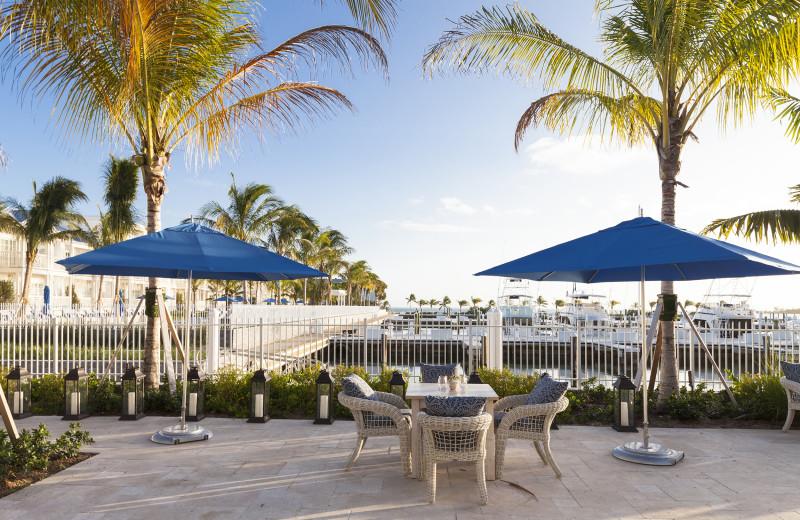 Patio at Oceans Edge Key West Resort & Marina.