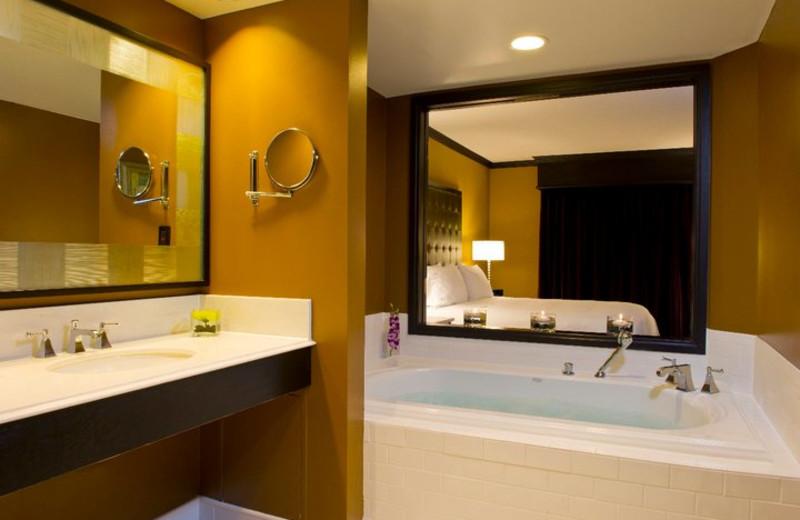 Guest bathroom at Grand Bohemian Hotel Orlando.