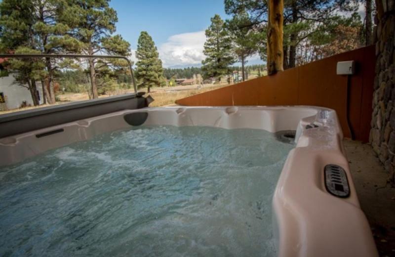 Rental hot tub at Pagosa Springs Accommodations.