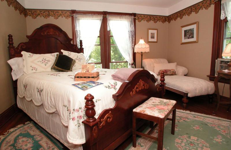 Guest room at Anna V's B & B.