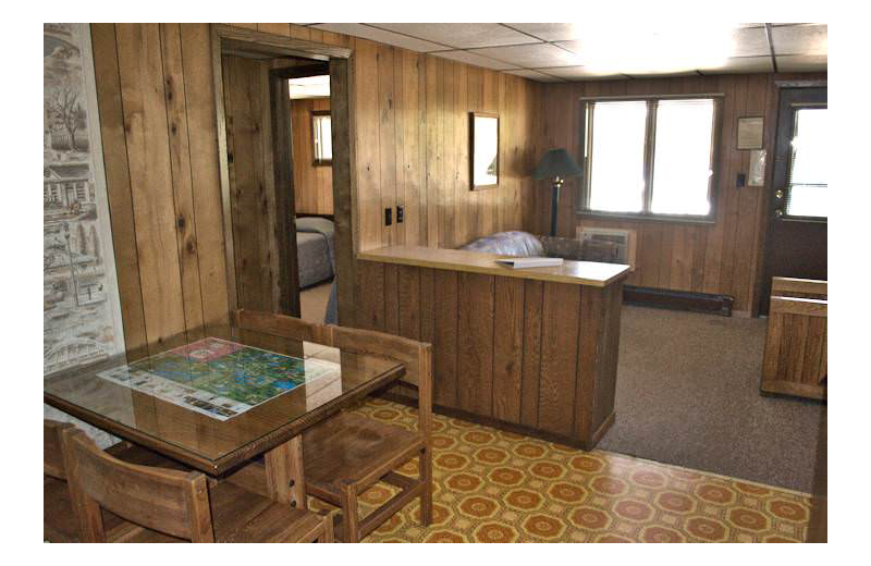 Guest suite at Silver Rapids Lodge.