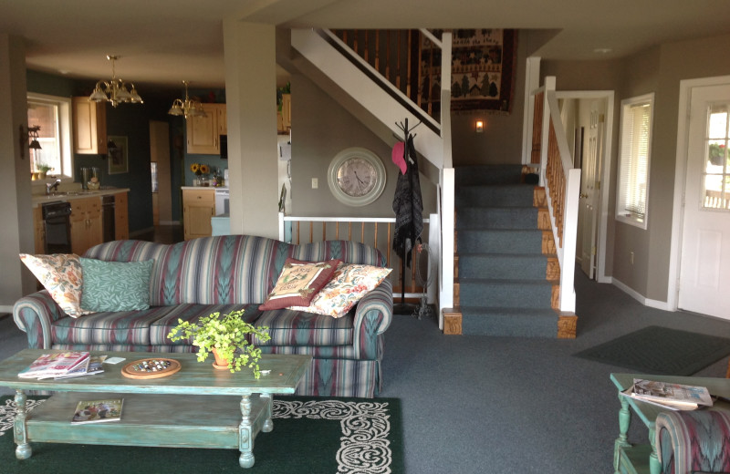 Cabin living room at Madison Management.