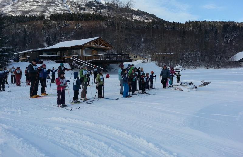 Skiing at Trail Lake Lodge.