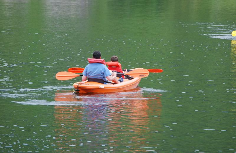 Lake activities at Golden Eagle Lodge.