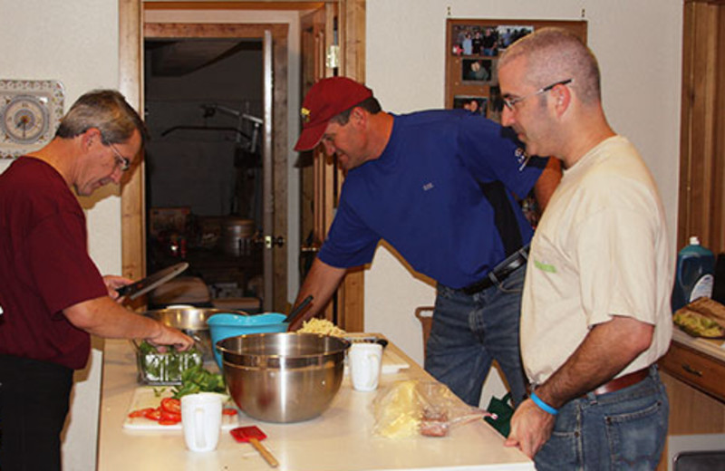 Family at Montana River Lodge.
