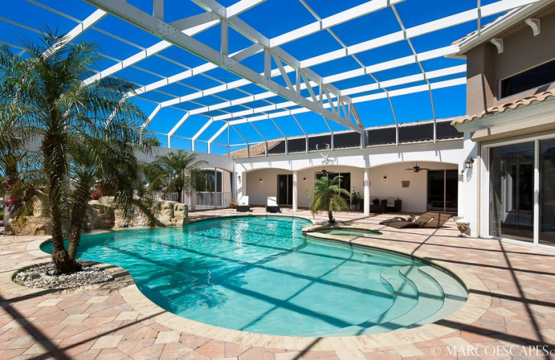 Rental pool at Marco Escapes.