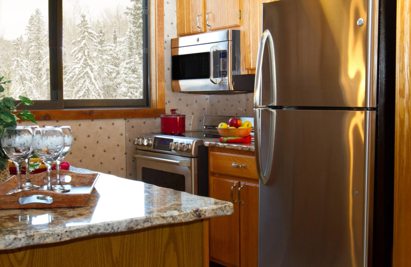Guest kitchen at Big Powderhorn Mountain Resort.