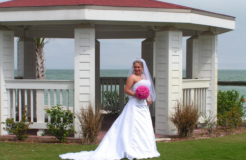 Bride at The Lighthouse Inn at Aransas Bay.