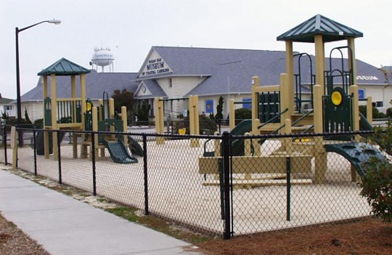 Kids playground at Ocean Isle Inn.