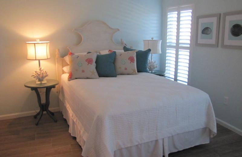 Rental bedroom at Crystal Waters Vacations.