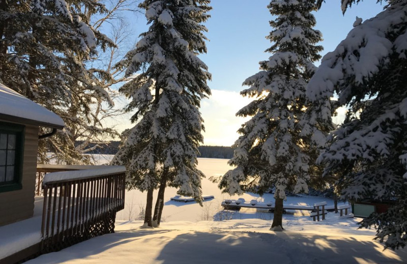 Winter at Rainbow Point Lodge.