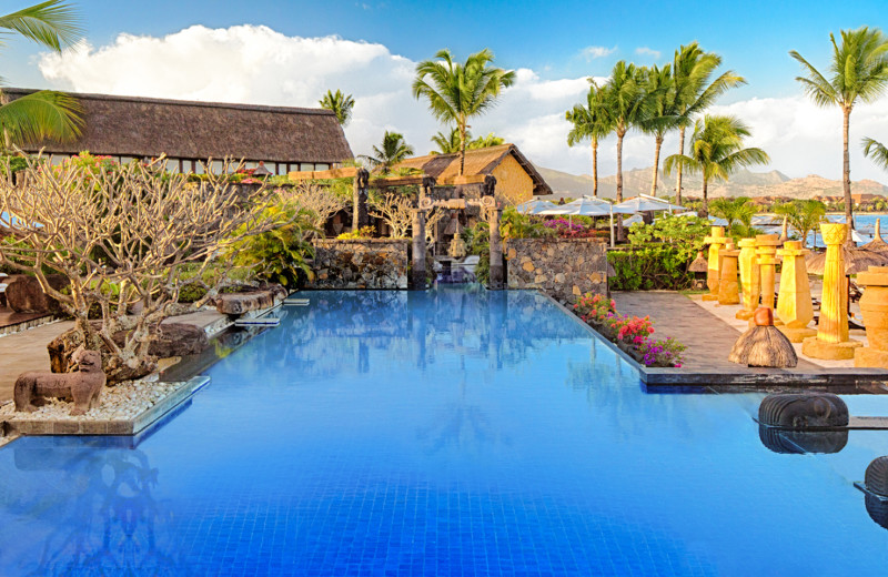 Outdoor pool at The Oberoi Mauritius.