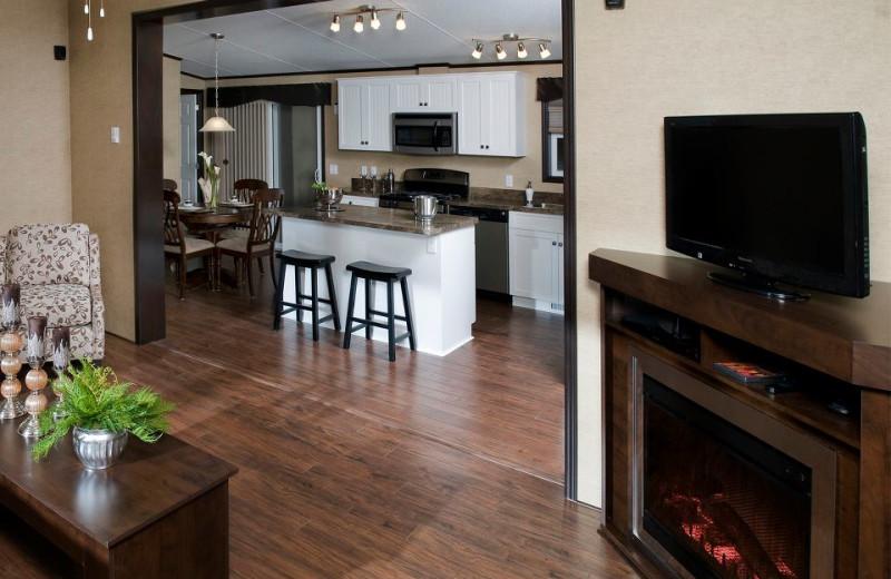 Cabin interior at Shamrock Bay Resort.