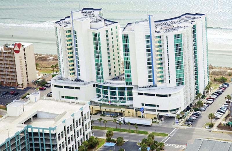 Aerial view of Avista Resort.