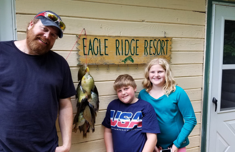 Fishing at Eagle Ridge Resort.