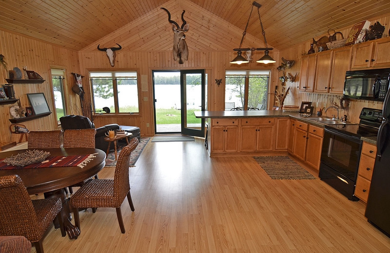 Cabin kitchen North Country Vacation Rentals.