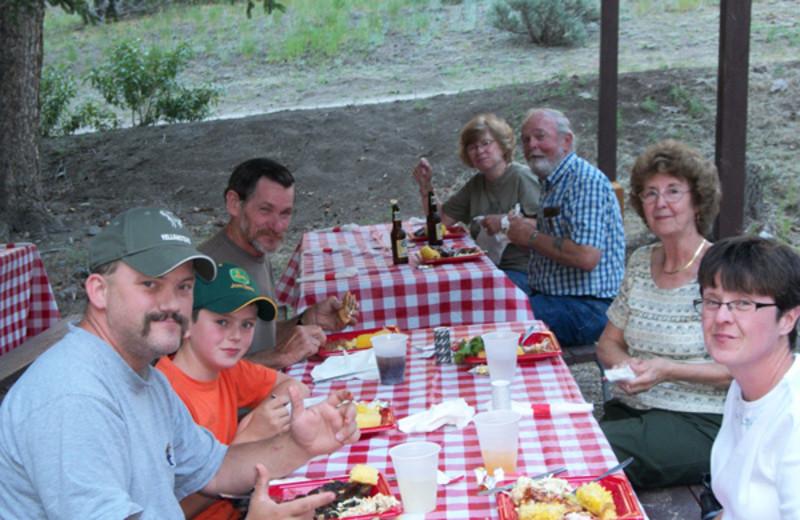 Outdoor Dining at Bill Cody Ranch