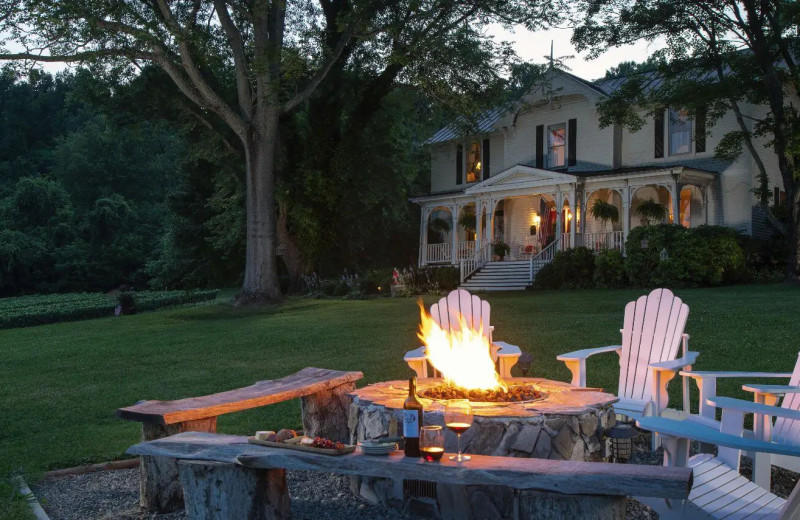 Fire pit at Orchard House Bed & Breakfast.