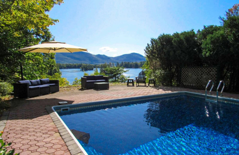 Rental outdoor pool at Northern Living - Luxurious Vacation Rentals.