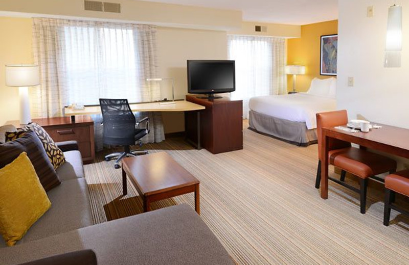 Guest room at Residence Inn by Marriott Dallas Richardson.