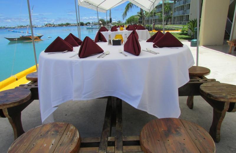 Dining at The Marshall Islands Resort.