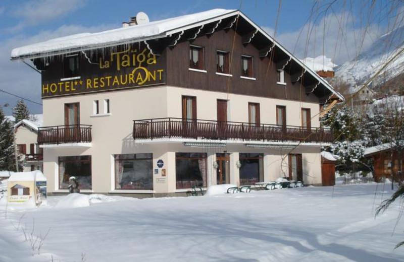 Exterior view of Hotel la Taiga.