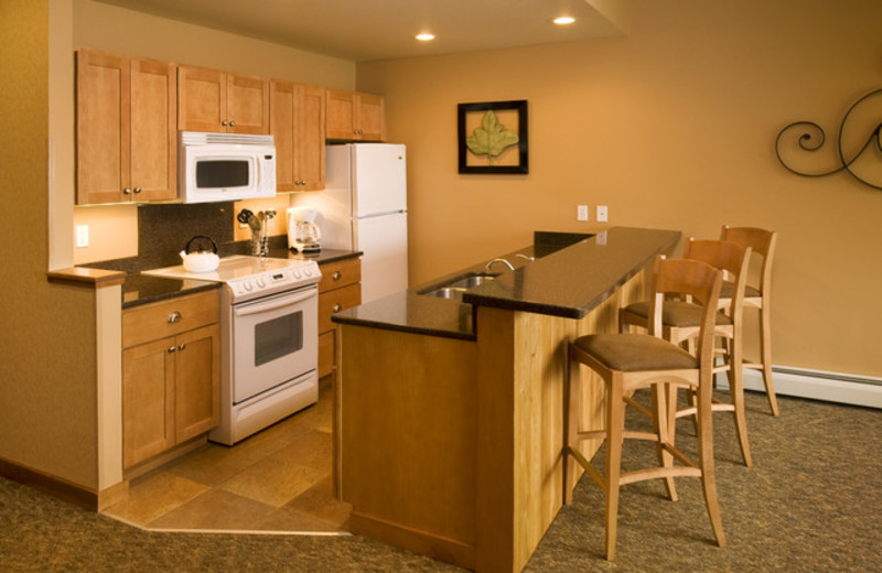 Guest kitchen at Lutsen Resort on Lake Superior.