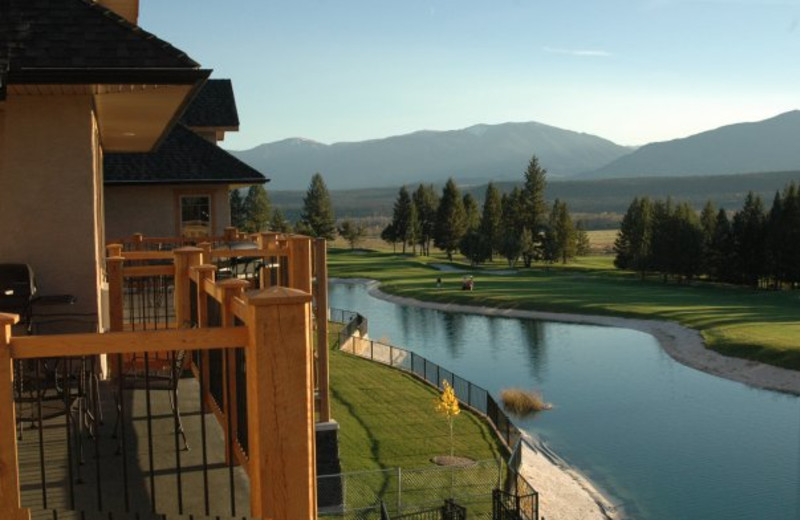 Balcony view at Bighorn Meadows Resort.