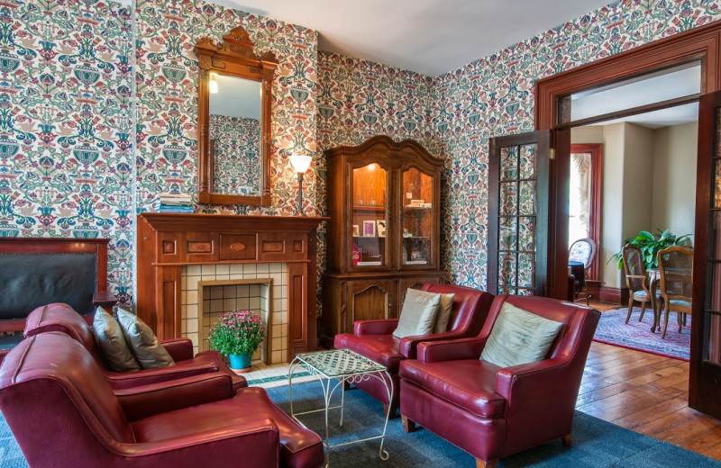 Parlor view at George Carroll House.