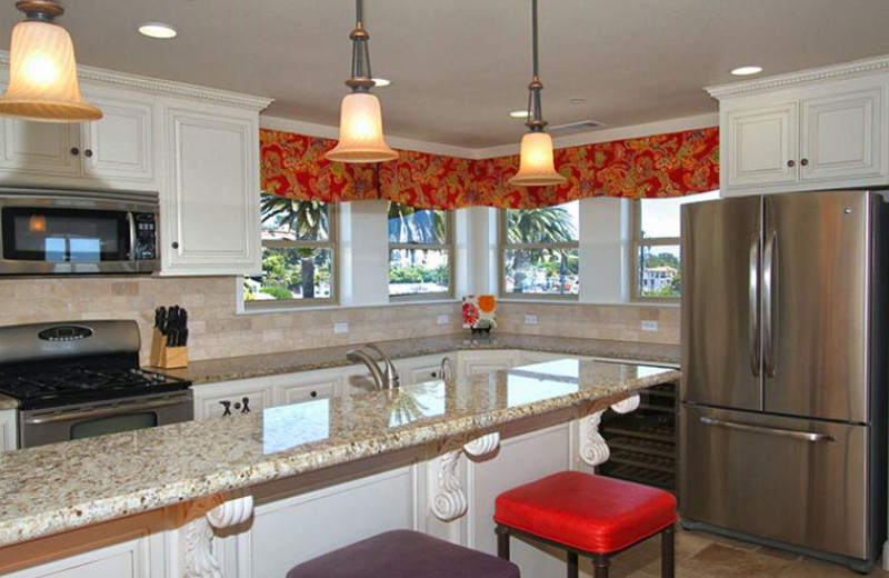 Rental kitchen at Coastal Vacation Rentals.