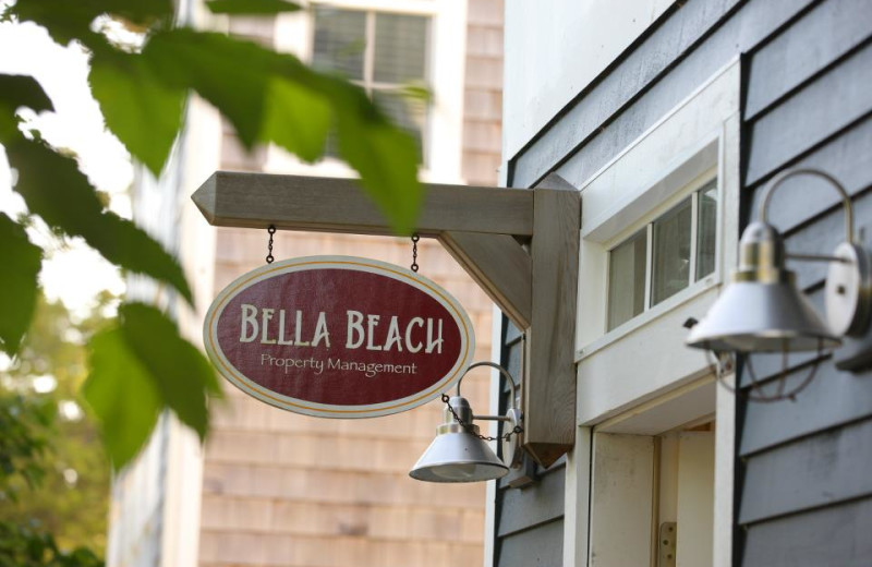Bella Beach Property Management sign.