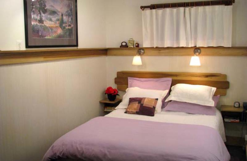 Garden suite bedroom at Berkeley Short-Term Lodging.