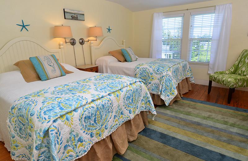 Guest bedroom at Newagen Seaside Inn.