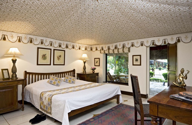 Guest room at Samode Bagh.