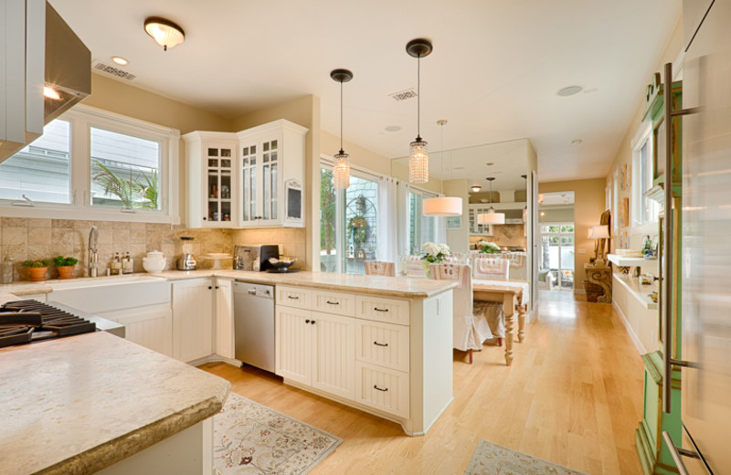 Vacation rental kitchen at Seabreeze Vacation Rentals, LLC.