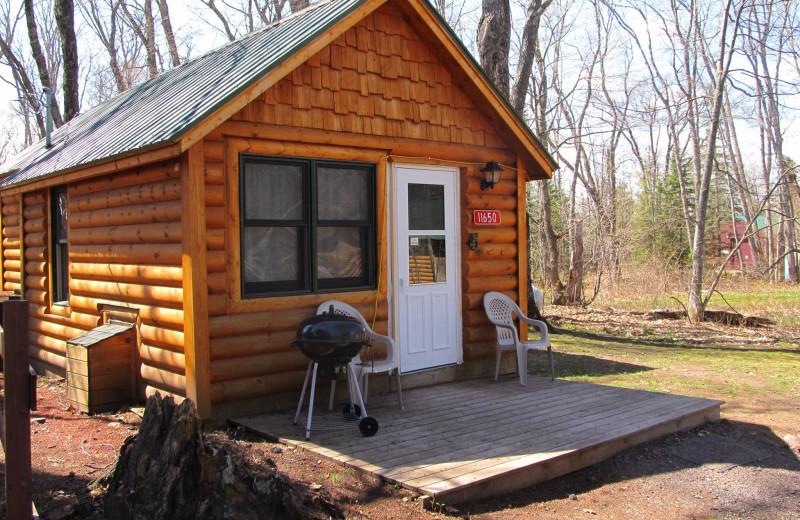 Cabin exterior at Lac La Belle Lodge.