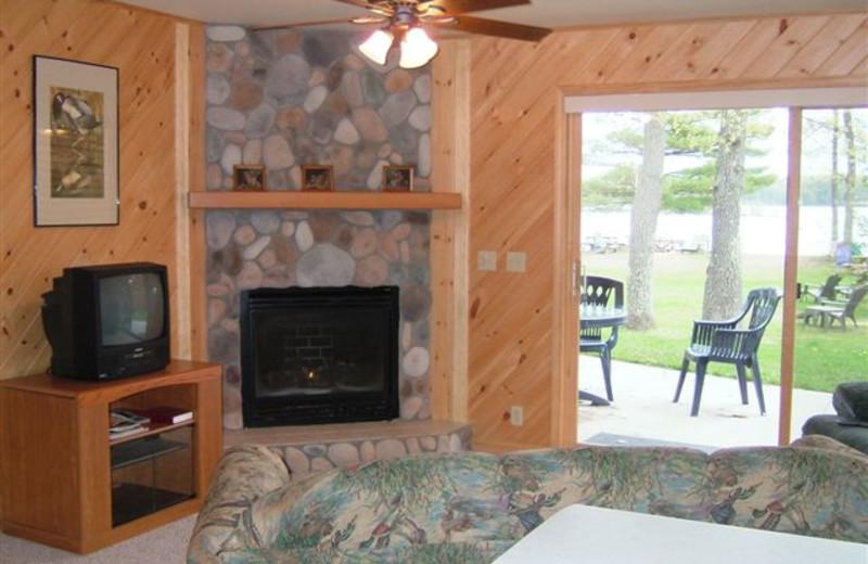 Cabin interior at Timber Trail Lodge.